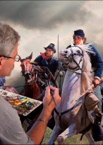 "Bruce Lawes paints Gettysburg 150th commemorative ""Pickett's Charge"""