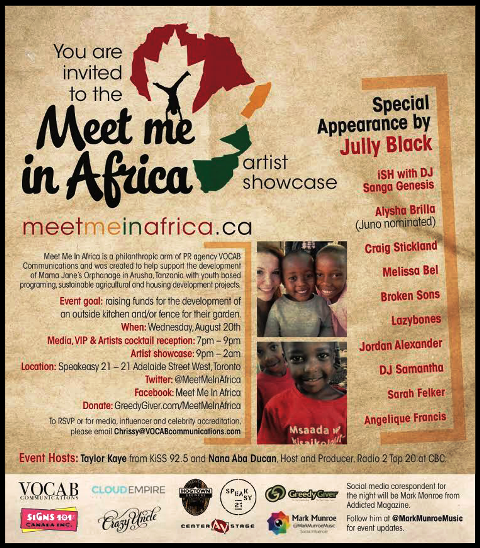 """VOCAB's CHRISSY NEWTON INVITES US TO """"MEET ME IN AFRICA"""" AUGUST 20TH"""